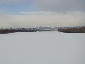 ゴールまで3kmのところから見る札幌ドーム
