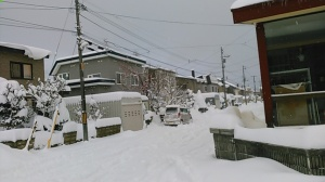 札幌郊外の大雪