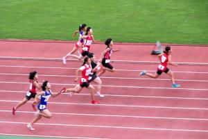 5年女子100m決勝