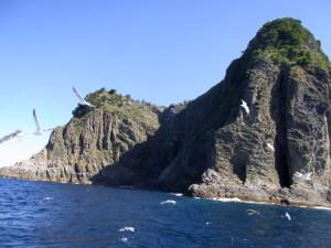 北西から見た宝島