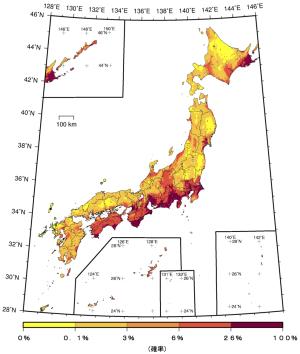 6弱以上の地震確率